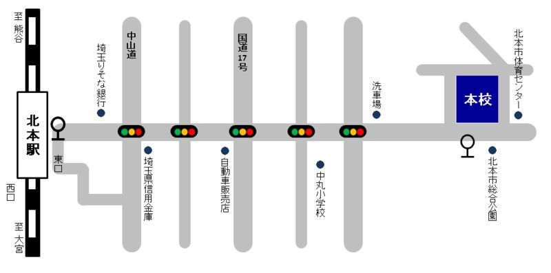 学校案内図(概略)