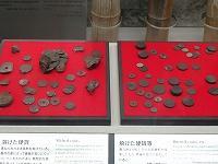 長崎原爆資料館より、熱風で溶けた硬貨